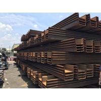 Hot Rolled Steel Sheet Pile JIS A 5528 Used For Construction Water Isolation Manufactures