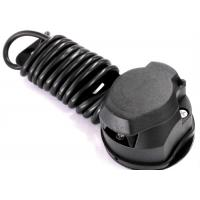 Black 7 Way Trailer Electrical Plug Connecting Tow Vehicle To Semi Truck Manufactures