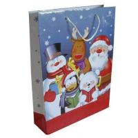 Colorful Merry Christmas Gift Bag, Customized Paper Bag With Cmyk Printing Manufactures