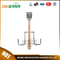 wooden street lamp outdoor fitness leg exercise machine Manufactures