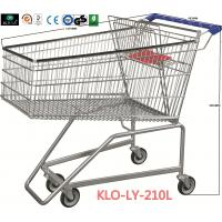 Flat Basket Wire Mesh Metal Shopping Carts With PVC , PU , TPR Wheels Manufactures