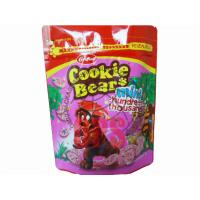 Color Printed Cookie Sweet Stand Up Food Pouches Doypack With Ziplock Manufactures