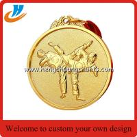 China Taekwondo metal medals, custom made metal engraved Taekwon-do medals factory on sale