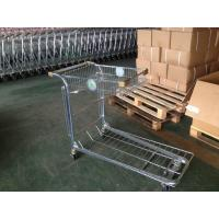 Retail Warehouse Trolley / cargo trolley with two round embossed logo plate Manufactures