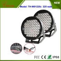 Black 10 inch 225W spotlights round LED spot driving lights upgraded 5w CREE XPG grade Manufactures