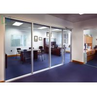 Quality 110 Series Aluminium Office Partition Easy Assembly With Clear / Frosted Glass for sale