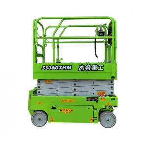 Long warranty electric EWP 4m 13ft 240kgs capacity mini scissor lift for indoor building Manufactures