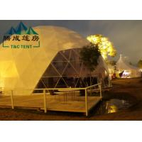 Transparent Geodesic Dome Tent Easy Maintenance Hot - Dipped Galvanized Steel Manufactures