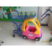 Plastic 70L Supermarket Kids Play Shopping Cart With Color Powder Coating Manufactures