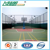 China Dustproof Acrylic Paint Outdoor Play Surface Sports Flooring Blue ISO Fadeless on sale