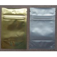 Aluminum Foil Zip Lock Bag Plastic Seeds Packaging , Golden / Silver Manufactures