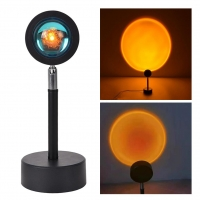 6W Rgb Remote LED Sunset Lamp LED Bedside Lamp 150cm Wire Manufactures
