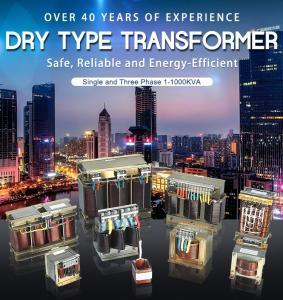 China Dry Type Transformer Single and Three Phase 1-1000kVA Copper, Alumnium on sale