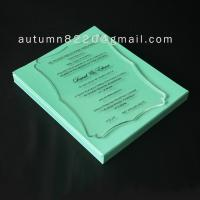 B IC (3) romantic clear acrylic invitation Manufactures
