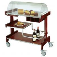 Deluxe Pastry Cart Solid Wood Dessert Service Equipments 910*510*1120mm Manufactures