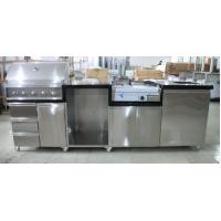 Sliver Color Commercial Kitchen Equipments Gas Grill / 201# Stainless Steel Grill With Cabinet Manufactures