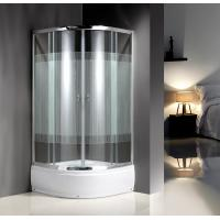 Quality 4mm Tempered Serigraphy Glass Quadrant Shower Enclosures With Handle / Wheels for sale