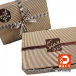 Biodegradable Corrugated Cardboard Boxes , Delicate Ribbon Tie Chocolate