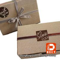 Quality Biodegradable Corrugated Cardboard Boxes , Delicate Ribbon Tie Chocolate Packaging Boxes for sale