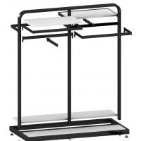 Metal / Wood  Customized Color Display Rack Stand Garment Showrooms  600*500*1000mm Manufactures