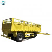 China LUYI 2 Axles 30 Ton Flatbed Side Wall Dolly Drawbar Full Trailer for sale on sale