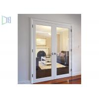 Quality Aluminium Alloy Arched Exterior Swing Doors , Series 90 Double Hinged Door Mechanism for sale