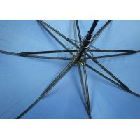 Custom Branded Promotional Golf Umbrellas With 190T Pongee Fabric , Curved Handle Manufactures