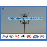Mobile antenna mast above 95% Penetration rate , steel telegraph poles White Color Manufactures
