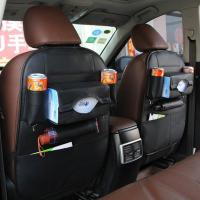 Buy cheap PU material hot sell special design black car seat back organizer from wholesalers