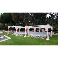 pipe drape bases case high quality custom luxury wedding tent drapery fabric curtains and pipe wedding decoration modern Manufactures