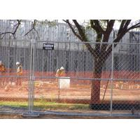"""1⅝""""(42mm) Tubing Us standard chain link temporary fence panels 8'height 12'width mesh 2¼""""x12.5ga/2.5mm Manufactures"""