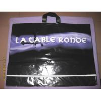 Quality Black Soft Flexible Loop Handle Plastic Bags With Custom Printing for sale