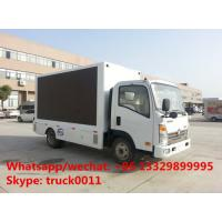 SINO TRUK wangpai 4*2 LHD 115hp diesel mobile LED truck for sale, best price P8 outdoor LED billboard advertising truck Manufactures