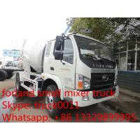2017 new  high performance forland mini 3-4cbm LHD concrete mixer truck for sale, best price forland cement mixing truck Manufactures