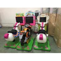 Indoor Touch Screen Kiddy Ride Machine , Crazy Horse Car Racing Swing Video Game Machine Manufactures