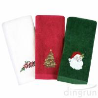 Christmas Hand Towels 100%  Cotton Bathroom Kitchen Towels for Drying Cleaning Cooking Manufactures