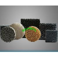 China Ceramic Foam filters/ aluminium honeycomb ceramic on sale
