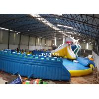 Commercial Exciting Blue Inflatable Swimming Pools For Water Park Manufactures