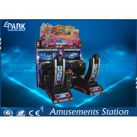 Electronic Car Racing Arcade Machine / Racing Arcade Cabinet Twin Racing Car Manufactures