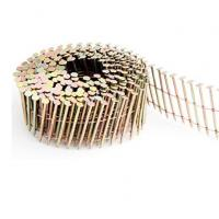 Diamond Point Pallet Coil Nails With Flat Head / Checked Head .92 Inch 1 - 34 Inch Manufactures