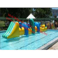 Inflatable Obstacle Course  Park Pool Inflatable water track for swimming pool aqua track Manufactures