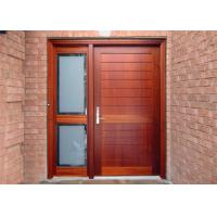 Elegant Modern Solid Wood Entrance Doors , Solid Wood Interior Doors With Glass Manufactures