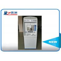 """China ID card self service kiosk gift card dispenser 19"""" TFT-LCD white blue Manufactures"""