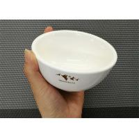 Weight 181g Porcelain Dinnerware Sets Ceramic Round Soup Bowl With Logo Dia.10cm Manufactures