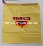 Yellow Waterproof Nylon Mesh Promotional Drawstring Bags / Personalized Drawstring Bags Manufactures