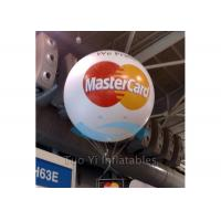Amazing Inflatable White LED Branded Balloons , Custom Printing Branded Helium Balloons Manufactures