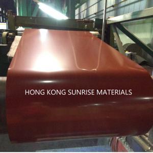 Buy cheap 0.16 x 1220MM Brown PPGI Prepainted Galvanized Steel Coils Soft SGCC JIS Z100 from wholesalers