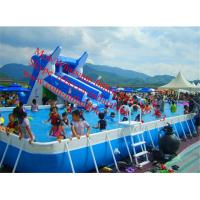 Quality outdoor swimming pool above ground pool water slide inflatable slide for for sale