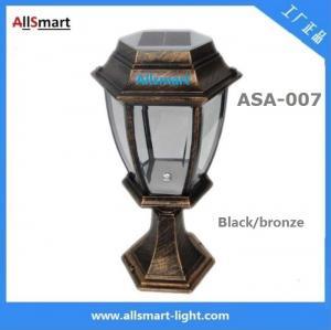 Aluminum Bronze Solar Chapiter Lights ASA-007 Solar Panel For Fence,Gate,Garden,Exlusive Villa Manufactures