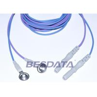 Din 1.5 Colorful TPU EEG cup electrodes with AgCl Plated Cup ,1.5m Brain Wires Manufactures